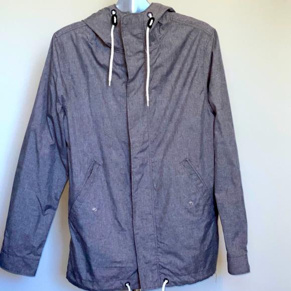 H&M GrayNylon Rain Jacket